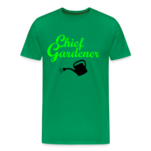 Garden T-Shirt Chief Gardener Watering (Men Green/White) - Men's Premium T-Shirt