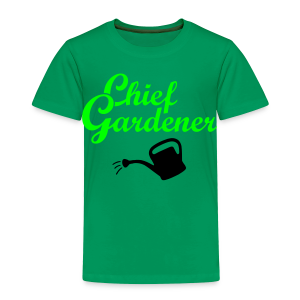 Garden T-Shirt Chief Gardener Watering (Men Green/White) - Toddler Premium T-Shirt