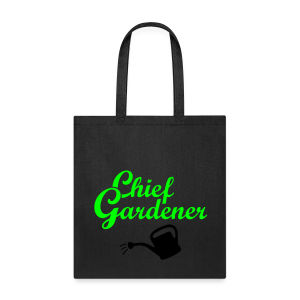 Garden T-Shirt Chief Gardener Watering (Men Green/White) - Tote Bag