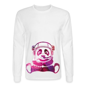 Pandanaut Hipster Geek Space Panda Baby & Toddler Shirts - Men's Long Sleeve T-Shirt