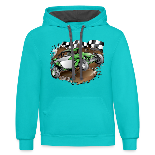 Green Limited Buggy Shirt - Contrast Hoodie