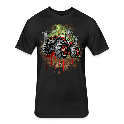Zombie Mega Jeep Shirt - Fitted Cotton/Poly T-Shirt by Next Level