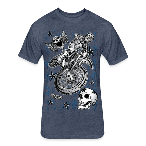 Motocross Dirt Bike Grunge Shirt - Fitted Cotton/Poly T-Shirt by Next Level