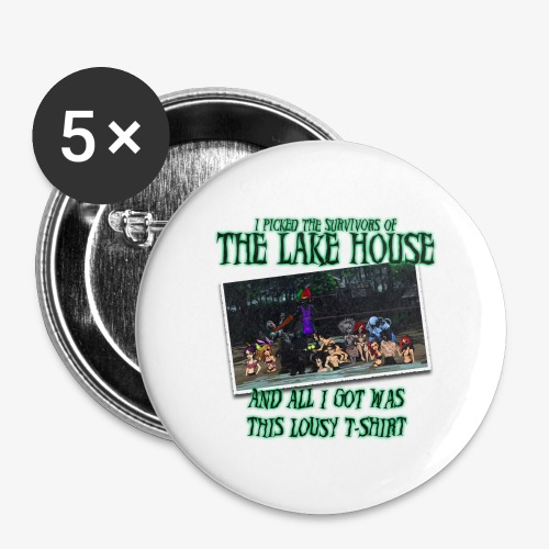 The Lake House T-Shirt - Buttons large 2.2'' (5-pack)