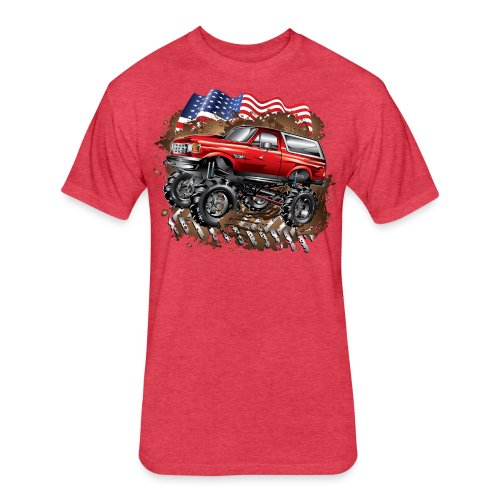 Mud Truck Ford Bronco Shirt - Fitted Cotton/Poly T-Shirt by Next Level
