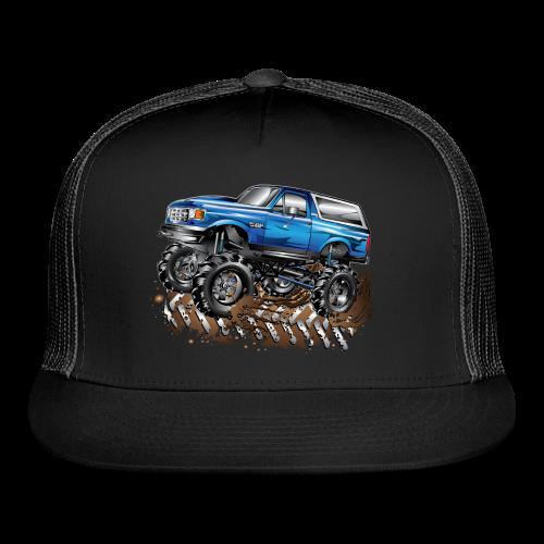 Blue Ford Bronco Mud Truck Shirt - Trucker Cap