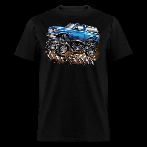 Blue Ford Bronco Mud Truck Shirt - Men's T-Shirt