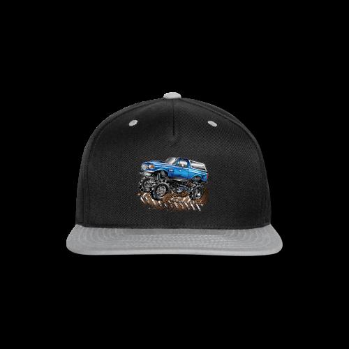 Blue Ford Bronco Mud Truck Shirt - Snap-back Baseball Cap