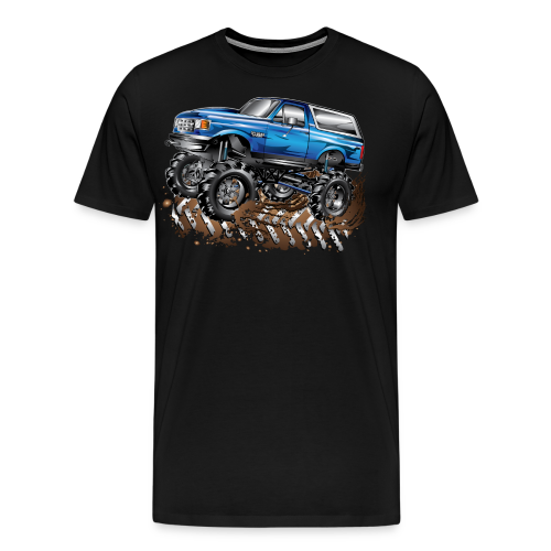 Blue Ford Bronco Mud Truck Shirt - Men's Premium T-Shirt