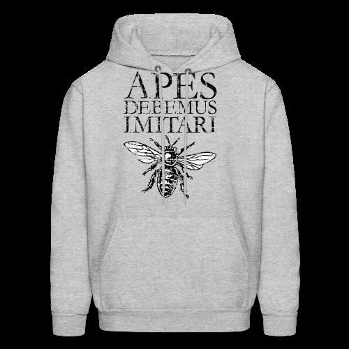 Vintage Beekeeper T-Shirt 'APES DEBEMUS IMITARI' (Women Gray) - Men's Hoodie