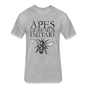 Vintage Beekeeper T-Shirt 'APES DEBEMUS IMITARI' (Women Gray) - Fitted Cotton/Poly T-Shirt by Next Level