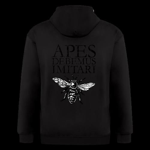 Vintage Beekeeper T-Shirt 'APES DEBEMUS IMITARI' (Women Gray) - Men's Zip Hoodie