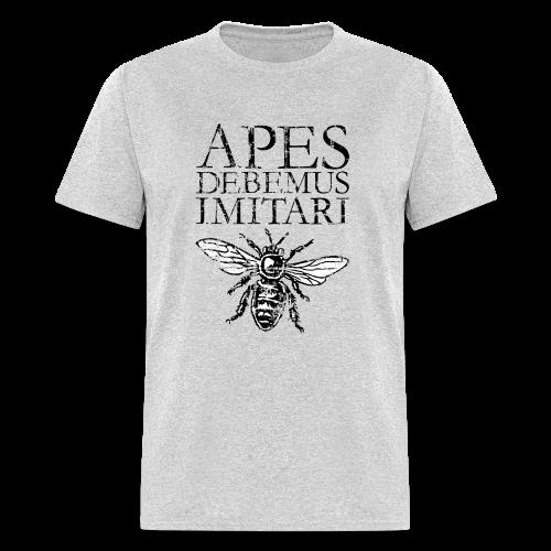 Vintage Beekeeper T-Shirt 'APES DEBEMUS IMITARI' (Women Gray) - Men's T-Shirt