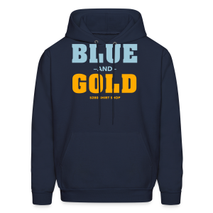 Blue And Gold - Mens T-Shirt - Men's Hoodie