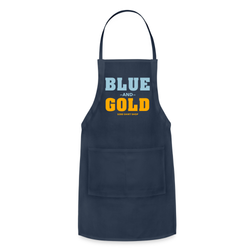 Blue And Gold - Mens T-Shirt - Adjustable Apron