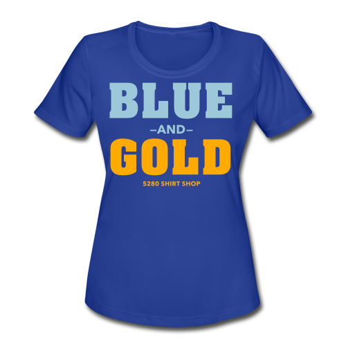 Blue And Gold - Mens T-Shirt - Women's Moisture Wicking Performance T-Shirt