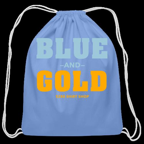 Blue And Gold - Mens T-Shirt - Cotton Drawstring Bag