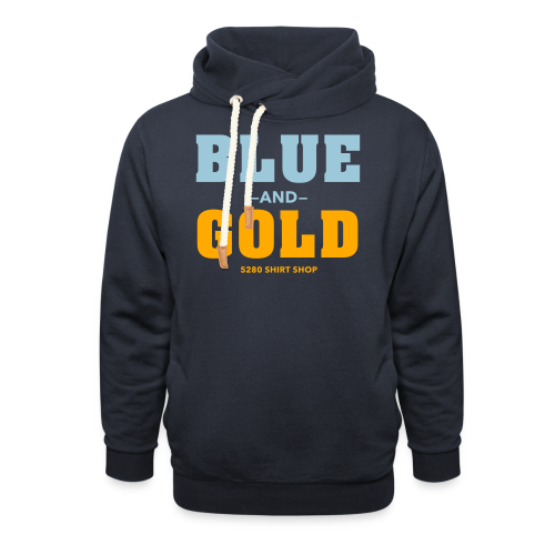 Blue And Gold - Mens T-Shirt - Shawl Collar Hoodie