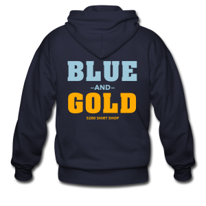 Blue And Gold - Mens T-Shirt - Men's Zip Hoodie