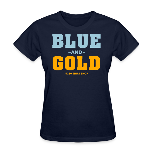 Blue And Gold - Mens T-Shirt - Women's T-Shirt