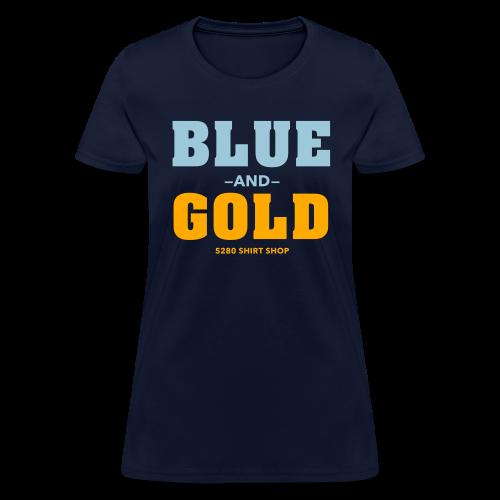 Blue And Gold - Mens T-Shirt - Women's T-Shirt