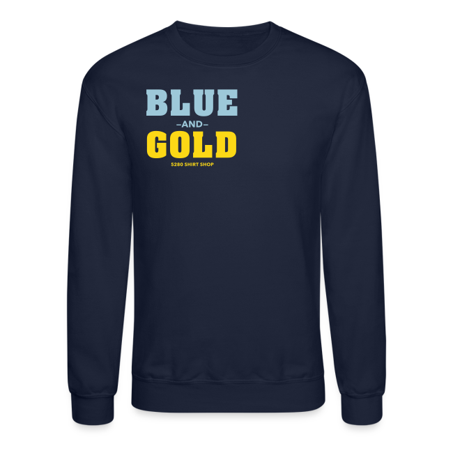 Blue And Gold - Mens T-Shirt