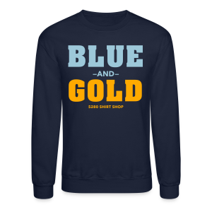 Blue And Gold - Mens T-Shirt - Crewneck Sweatshirt