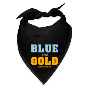 Blue And Gold - Mens T-Shirt - Bandana