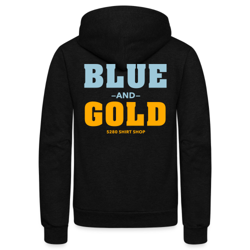 Blue And Gold - Mens T-Shirt - Unisex Fleece Zip Hoodie