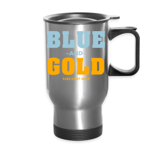 Blue And Gold - Mens T-Shirt - Travel Mug