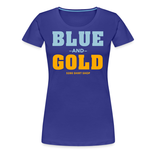 Blue And Gold - Mens T-Shirt - Women's Premium T-Shirt