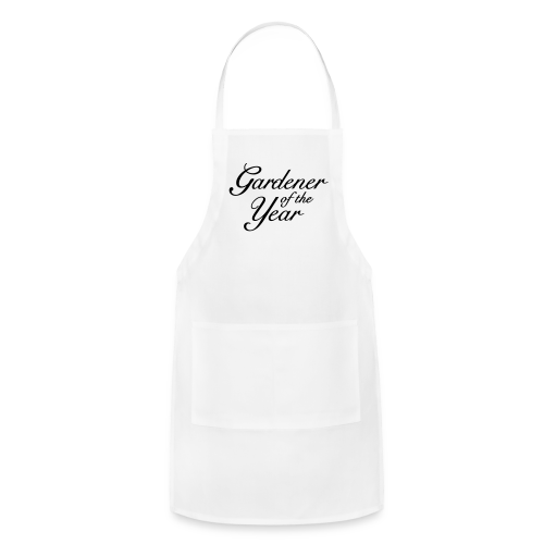 Gardener of the Year T-Shirt (Women Gray/Black) - Adjustable Apron