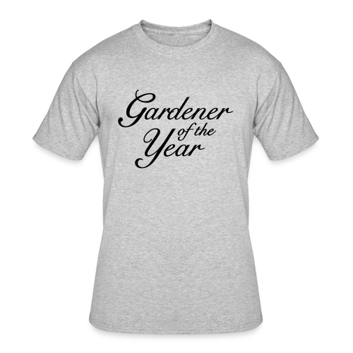 Gardener of the Year T-Shirt (Women Gray/Black) - Men's 50/50 T-Shirt