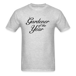 Gardener of the Year T-Shirt (Women Gray/Black) - Men's T-Shirt