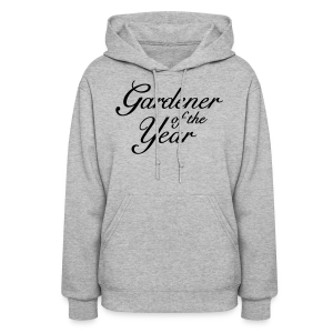 Gardener of the Year T-Shirt (Women Gray/Black) - Women's Hoodie