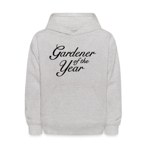 Gardener of the Year T-Shirt (Women Gray/Black) - Kids' Hoodie