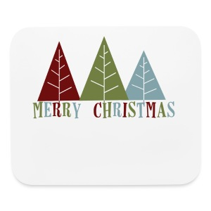 Merry Christmas Trees - Mouse pad Horizontal