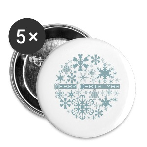 Christmas Snowflakes - Small Buttons