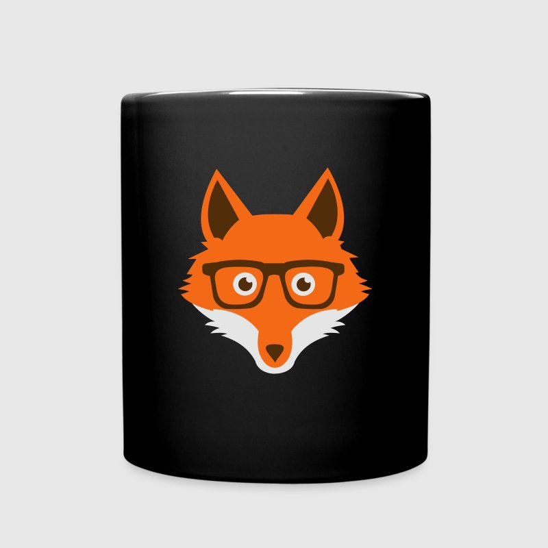 Sweet Funny hipster fox with nerd glasses Accessories - Full Color Mug