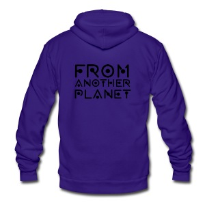 From Another Planet T-SHIRT - Unisex Fleece Zip Hoodie by American Apparel