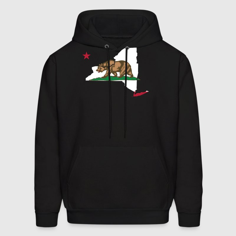 New York California Funny Pride Flag Apparel Hoodies - Men's Hoodie