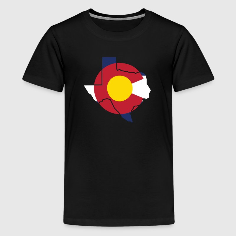 Texas Colorado Funny Pride Flag Apparel Kids' Shirts - Kids' Premium T-Shirt