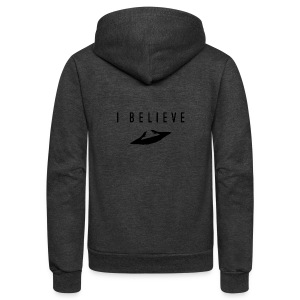 I Believe - Unisex Fleece Zip Hoodie by American Apparel