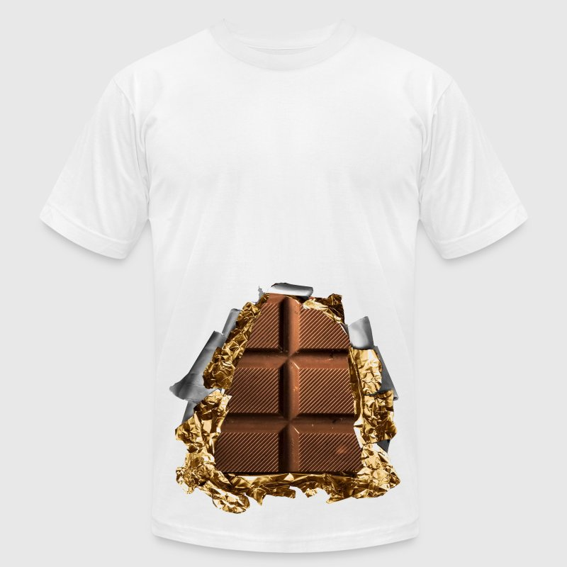 six pack chocolate bar T-Shirts - Men's T-Shirt by American Apparel