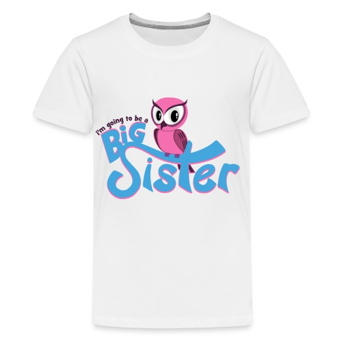 Big Sister Owl Women's T-Shirt - Kids' Premium T-Shirt