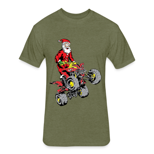 Santa Quad - Fitted Cotton/Poly T-Shirt by Next Level