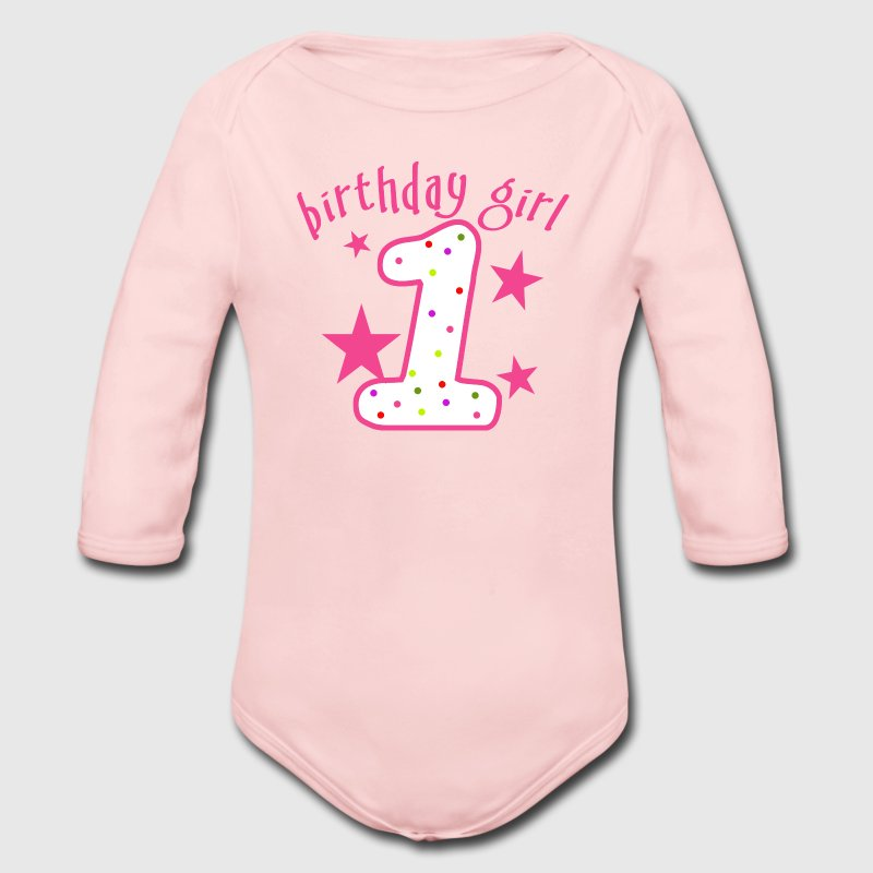 1st Birthday Girl - Long Sleeve Baby Bodysuit