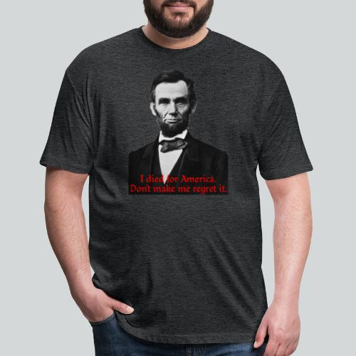 Abraham Lincoln's American Pride - Fitted Cotton/Poly T-Shirt by Next Level