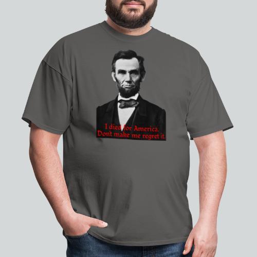 Abraham Lincoln's American Pride - Men's T-Shirt