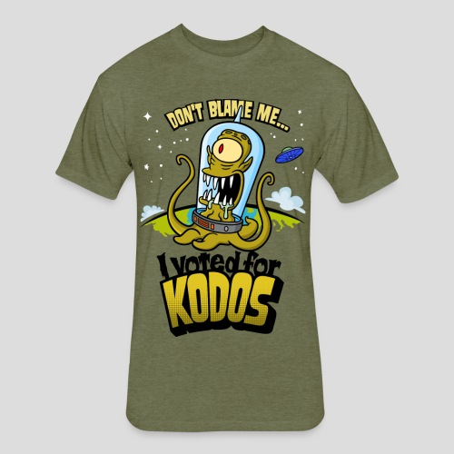 The Simpsons: I Voted for Kodos (color) - Fitted Cotton/Poly T-Shirt by Next Level